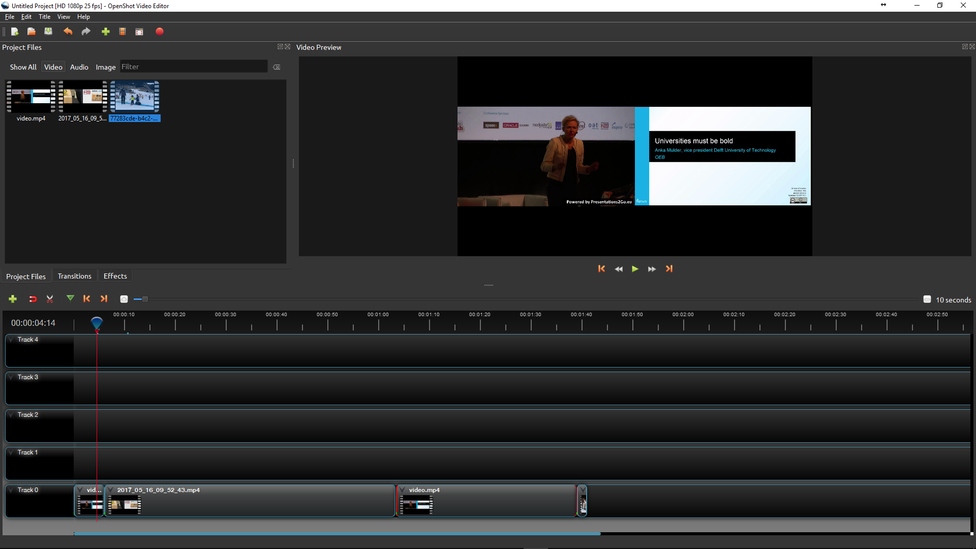 82a603e274 When you are ready you can export the video by pressing the red button.